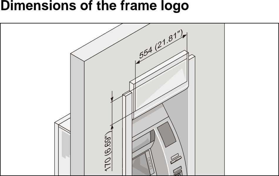 Dimensions of the frame logo