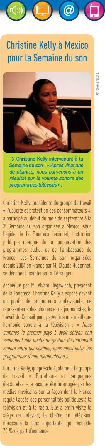 Christine Kelly à Mexico pour la Semaine du son > Christine Kelly intervenant à la