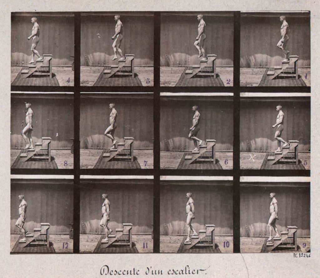 Paul Richer , Descente d'un escalier (1894) El valor documental de la fotografía la convierte