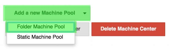 "on ""Add a new Machine Pool"" then select ""Folder Machine Pool"". Figure 7.16. Adding a new"