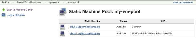 machines indicating their status and their vSphere UUID: Figure 7.26. Managing vSphere machines, #3 Click on