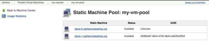 machines indicating their status and their vSphere UUID. Figure 7.31. Monitoring vSphere machines, #4 Click on