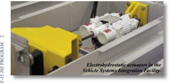 Electrohydrostatic actuators in the Vehicle Systems Integration Facility. F-35 JSF PROGRAM 2