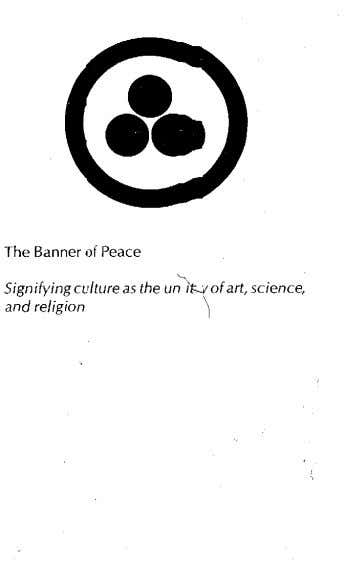about and dissemination of the Banner of Peace as a single powerful means for unifying artists