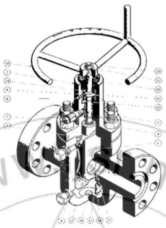 (IJSR) ISSN (Online): 2319-7064 Impact Factor (2012): 3.358 M-Type Gate Valve Assembly M-Type Gate valve Body