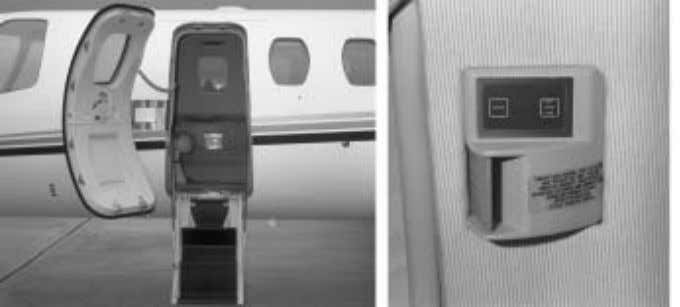 international CITATION BRAVO PILOT TRAINING MANUAL Figure 1-9. Entrance Door, Pins, Interior Handle and Latch Release