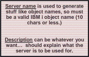 Server name is used to generate stuff like object names, so must be a valid