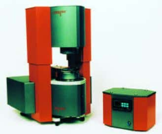 viscosity tests using a capillary device held at con- Figure 1 VISCOTECH DSR. stant temperature. Both