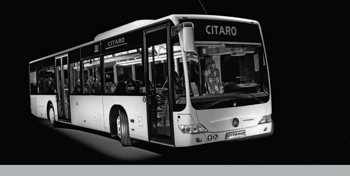 Technical information The Citaro Ü