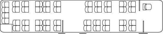 seating configurations Standard Special equipment (example) Special equipment (example) Number of seats 48 Number