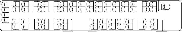 seating configurations Standard Special equipment (example) Special equipment (example) Number of seats 60 Number