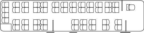 seating configurations Standard Special equipment (example) Special equipment (example) Number of seats 44 Number
