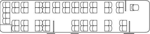 Citaro Ü (C628.087) seating configurations Standard Special equipment (example) Special equipment (example) Number of