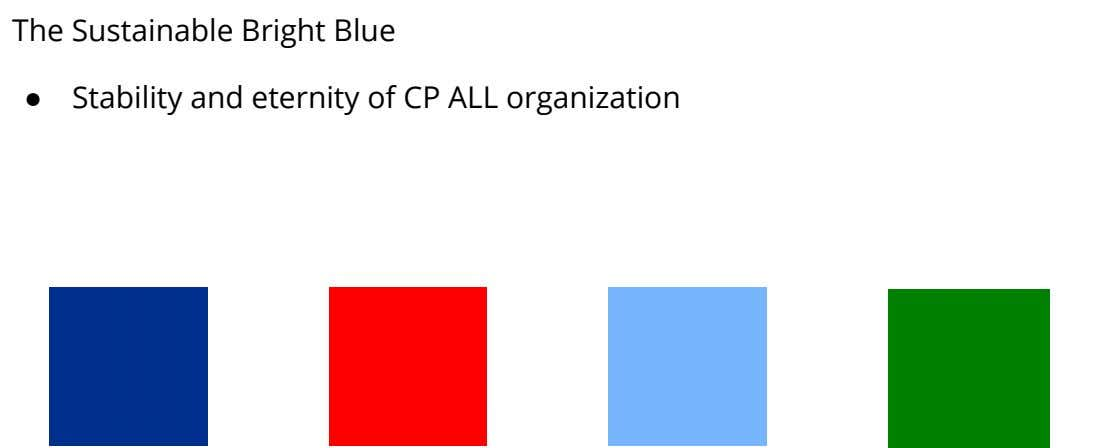The Sustainable Bright Blue ● Stability and eternity of CP ALL organization