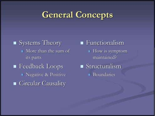 GeneralGeneral ConceptsConcepts SystemsSystems TheoryTheory FunctionalismFunctionalism MoreMore thanthan thethe
