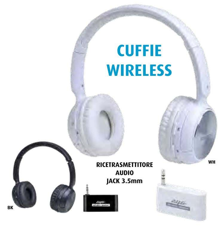 CUFFIE WIRELESS WH RICETRASMETTITORE AUDIO JACK 3.5mm BK