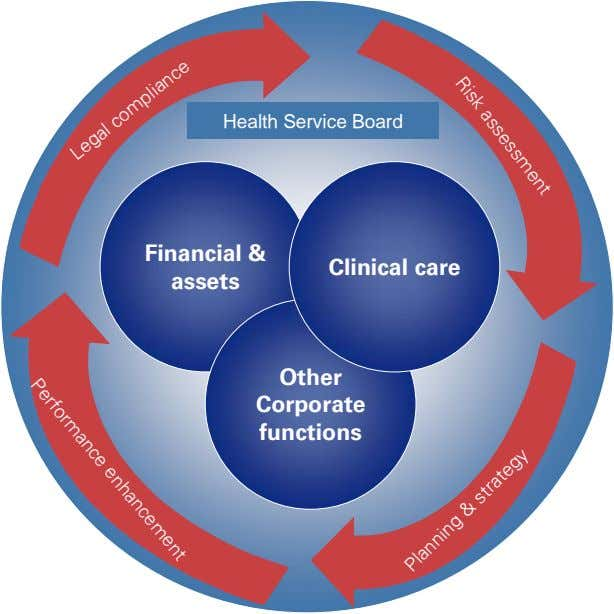Risk assessment Health Service Board Financial & Clinical care assets Other Corporate functions Performance