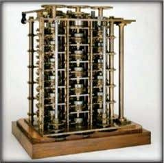 difference and theoretically could also solve differential equations. Fig: Difference Engine and Analytical engine 5