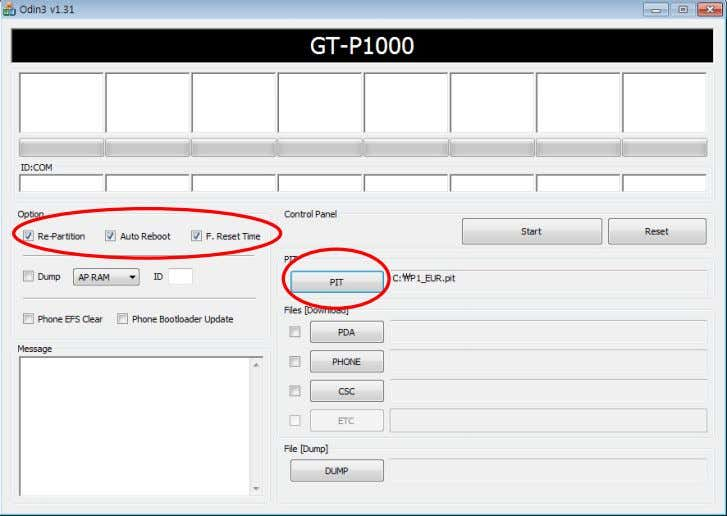 Auto Reboot and F. Reset Time, then select PIT File 6-2 SAMSUNG Proprietary-Contents may change without