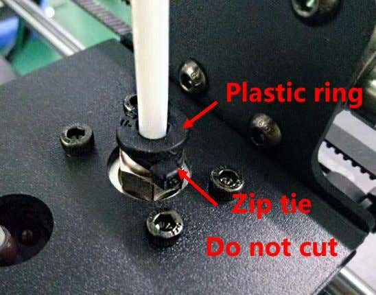 Plastic ring Zip tie Do not cut