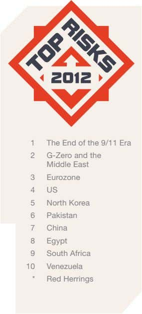 1 The End of the 9/11 Era 2 G-Zero and the Middle East 3 Eurozone