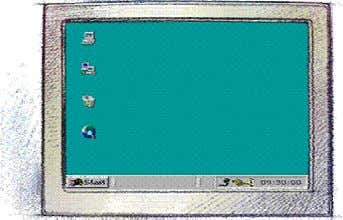 depending on how Windows 98 is set up on your computer. This is the Windows desktop.