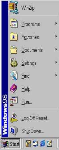 the Windows desktop, Help is available from the Start menu. Most applications have a Help button