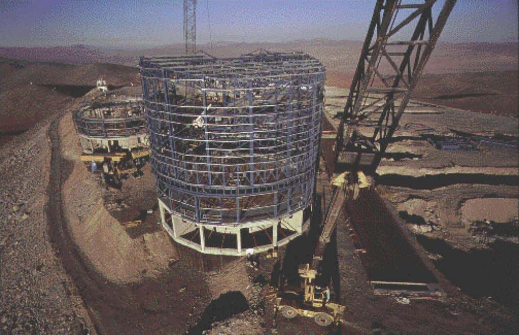 no obvious systematic trends are seen before October 1994. Unusual View of VLT Site Hanging from