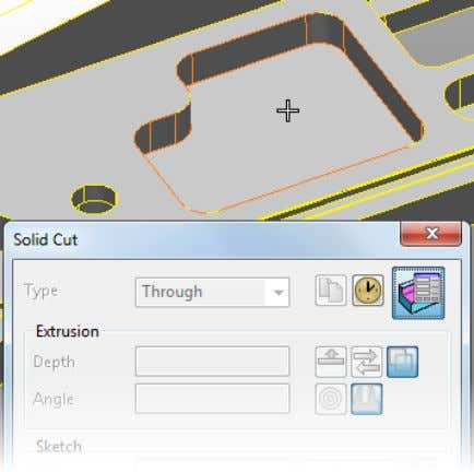 solid is highlighted as you move the cursor over the solid. 4 Click to select the
