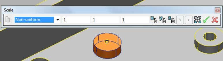 to create a scale origin. The Scale toolbar is updated. 6 Enter an X value of