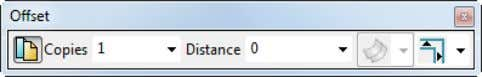 (General Edit toolbar ) to display the Offset toolbar. 4 Enter a Distance of 3 .