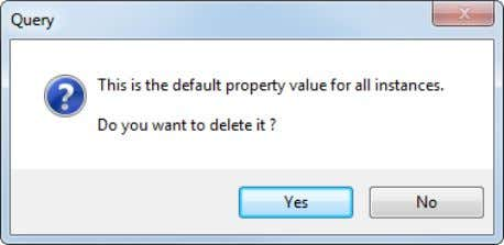 Delete a property defined in the component definition only:  Rename a property defined in the