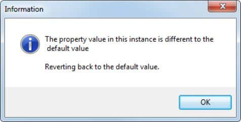 property defined in the component and component definition.  Delete a property defined in the component