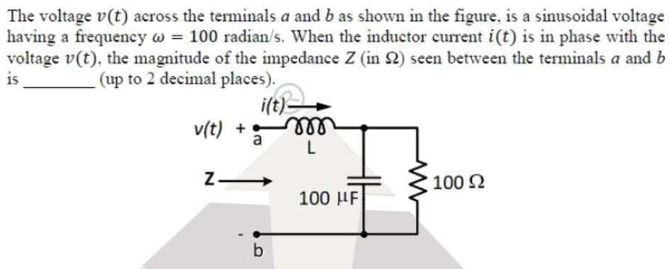 Question: 26 EE Answer: (50) Solutoins: Reactance of capacitor   1 c  1 100