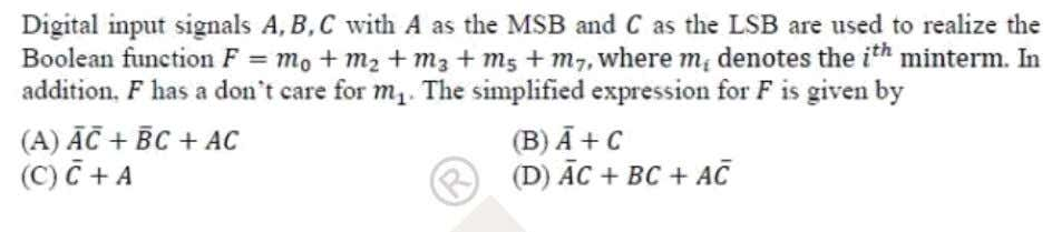Question: 37 EE Answer: (B) Solutoins: F  A,B,C    m  0,2,3,5,7 