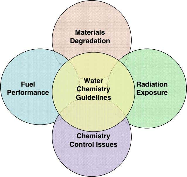 Materials Degradation Water Fuel Radiation Chemistry Performance Exposure Guidelines Chemistry Control Issues