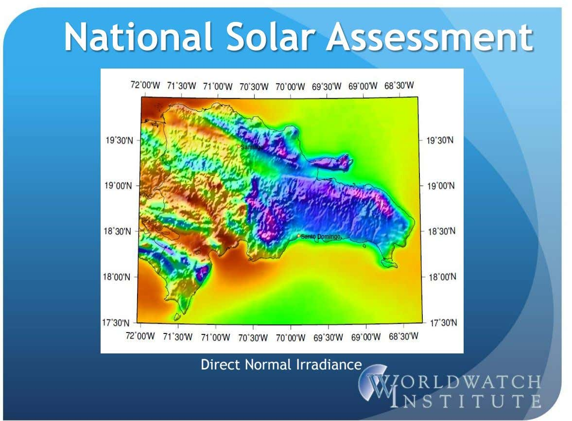 National Solar Assessment Direct Normal Irradiance