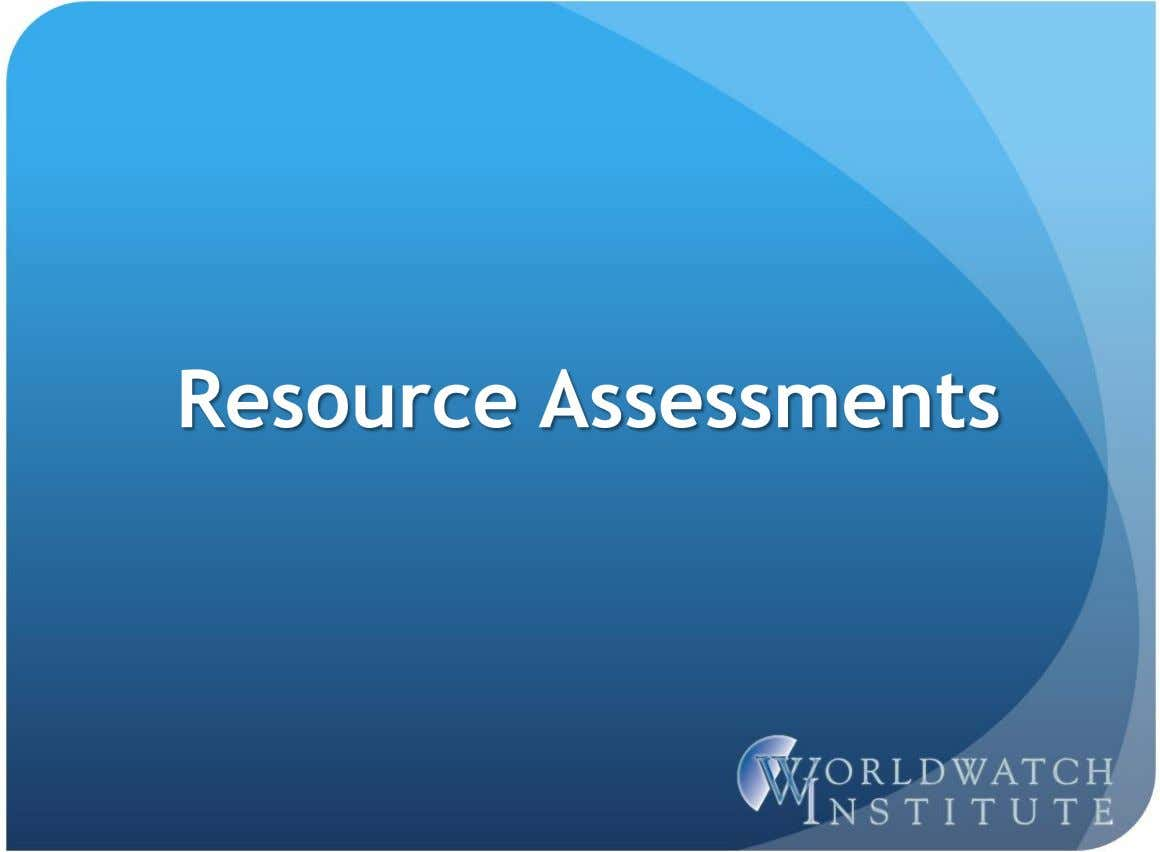 Resource Assessments