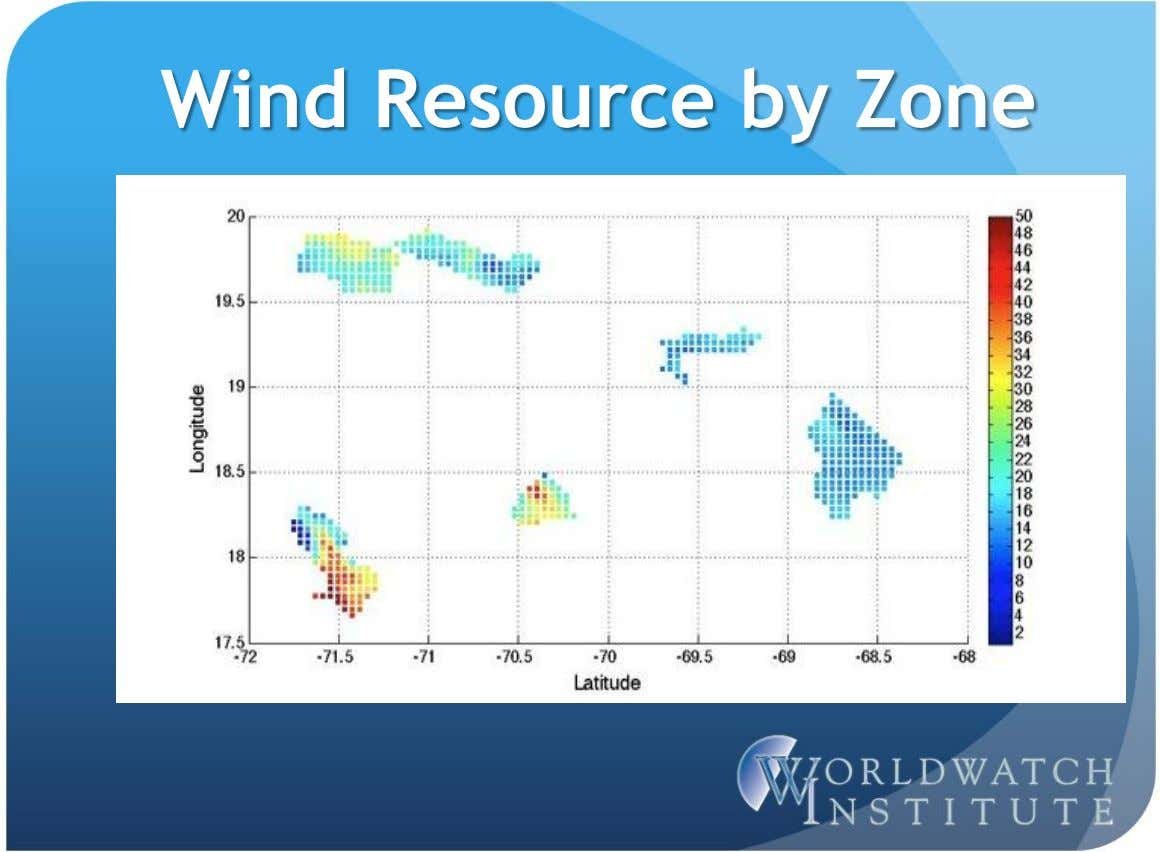 Wind Resource by Zone