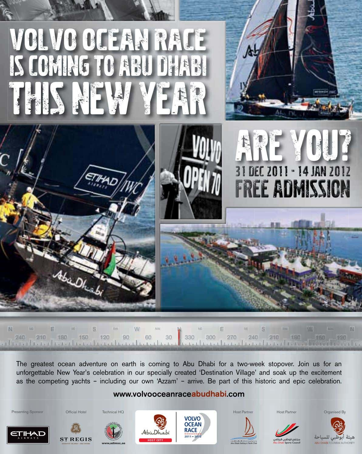 VOLVO OCEAN RACE IS COMING TO ABU DHABI THIS NEW YEAR ARE YOU? 313131 DECDECDEC