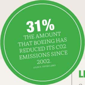 31% AMOUNT THAT THE BOEING HAS REDUCED ITS C�� EMISSIONS SINCE ����. SOURCE: ENVIRO.AERO