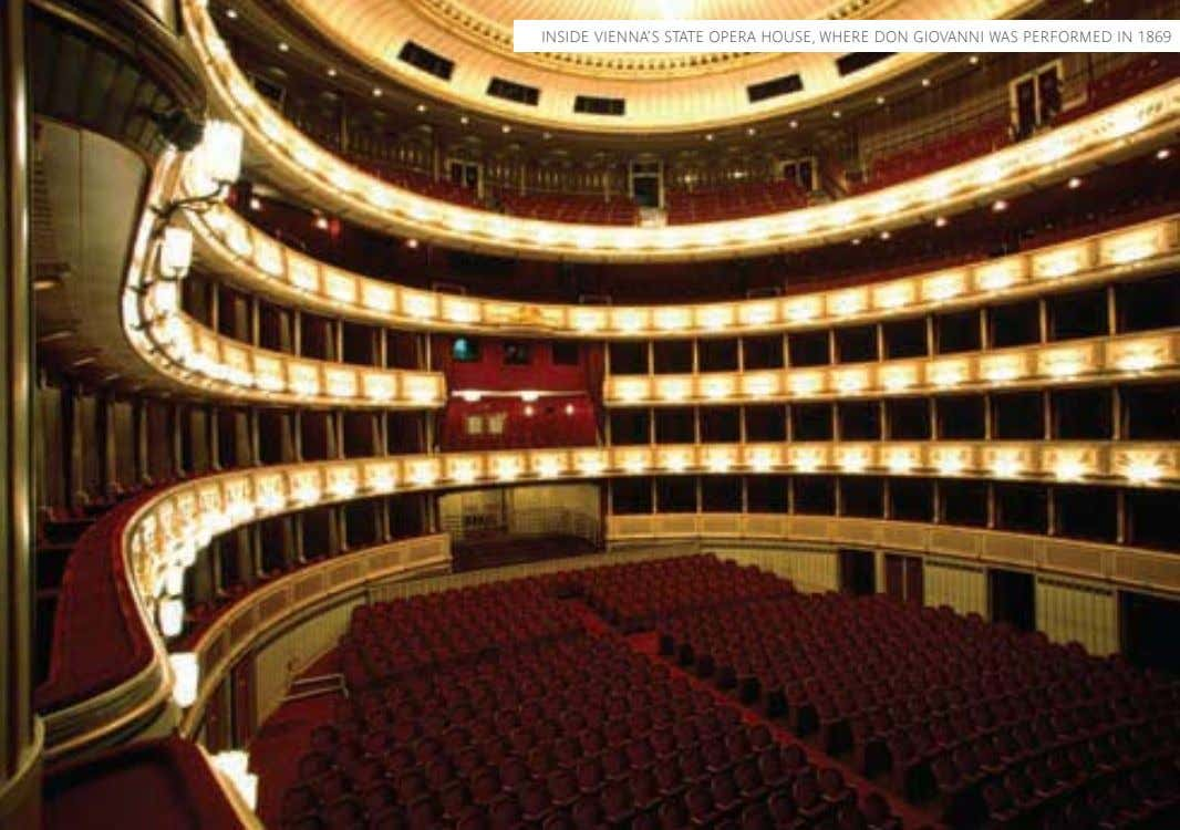 INSIDE VIENNA'S STATE OPERA HOUSE, WHERE DON GIOVANNI WAS PERFORMED IN 1869
