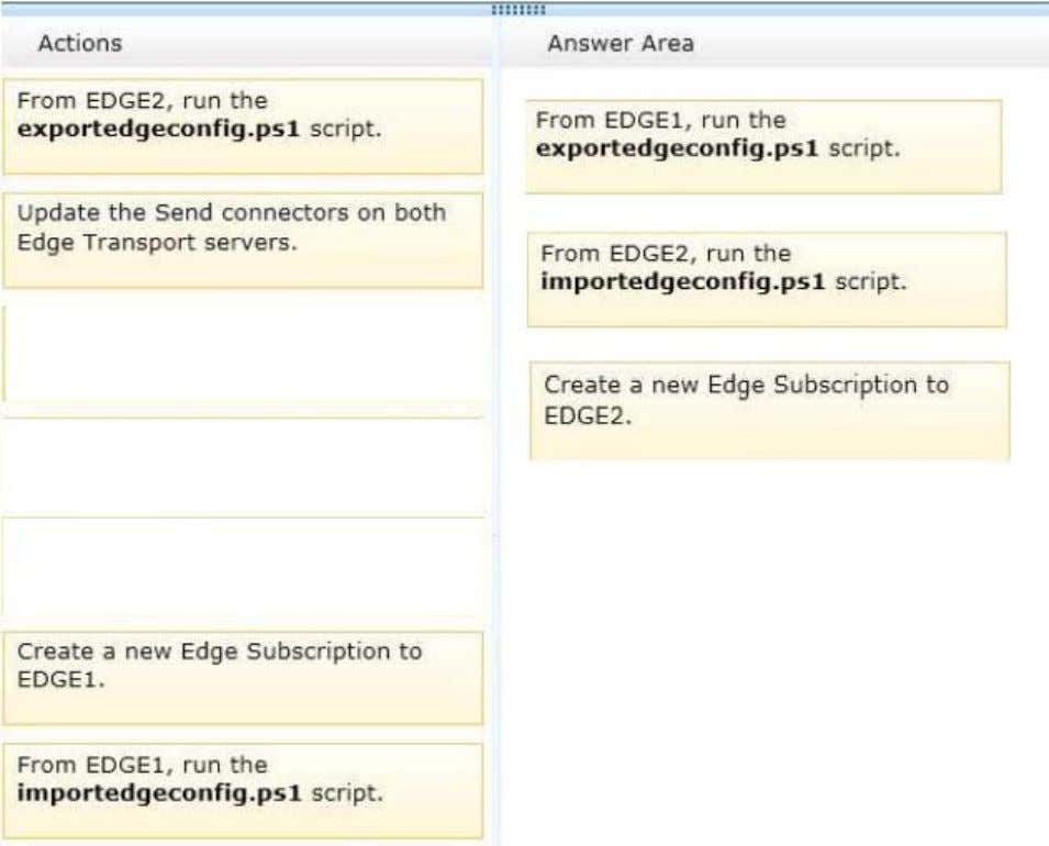 Section: [none] Explanation Explanation/Reference: Explanation: Configure Edge Transport Server Using Cloned Configuration