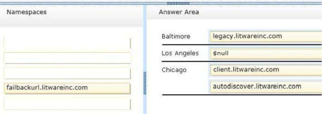 drag the split bar between panes or scroll to view content. Select and Place: Correct Answer: