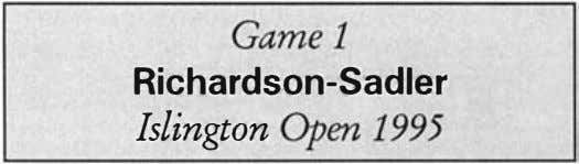Gamel Richardson-Sadler Islington Open 1995