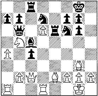 "diagonal and freeing dS for the knight on c3. 17 l:l:e6 18 i.f4 ""i'b6 19 l2lb5"