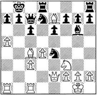 12 �a3 '¥We7 13 J:l:fe1 0-0-0 14 a5 �b8 15 �e7!? An interesting manoeuvre, transfer­ ring