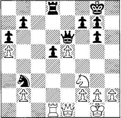 but White's queenside is weak. The posi­ tion is about equal. 25 �e 1 ? !