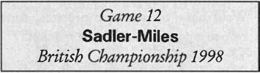 Game 12 Sadler-Miles British Championship 1998