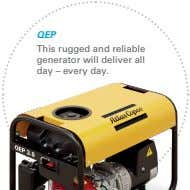 QEP This rugged and reliable generator will deliver all day – every day.